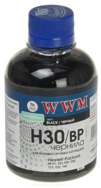 Чернила WWM 200г. HP C8767/C8765/C9362 Black H30BP pigmented