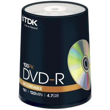 Диск DVD-R TDK 4,7GB 16x Cake 100pcs