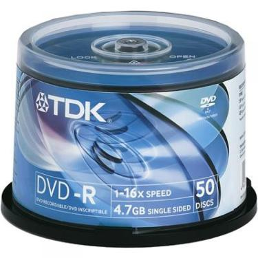 Диск DVD-R TDK 4.7Gb 16x Cake 50pcs printable