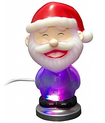 Новогодняя фигура Your Device! Christmas Gift Santa LED Light 7-colors glowing [PUG1015]