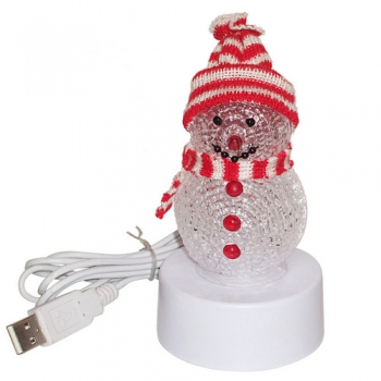 Новогодняя фигура Your Device! Christmas Gift Snowman LED Light 7-colors glowing [PUG1016]
