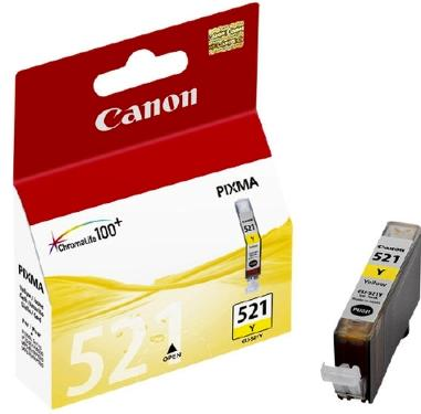 Картридж Canon ink CLI-521Y Yellow [2936B004]