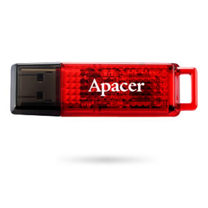 Флеш-память USB APACER 4GB AH324 Red [AP4GAH324R-1]
