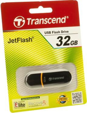 Флеш-память USB Transcend 32GB JetFlash 300 Black [TS32GJF300]