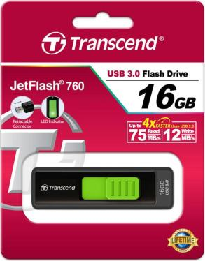 Флеш-память USB Transcend 16GB JetFlash 760 [TS16GJF760]