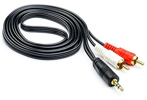 Кабель AUDIO Atcom DC3.5 to 2RCA 5m [10709]