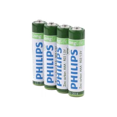 Батарейка AAA PHILIPS LongLife R03-L4F 4pcs