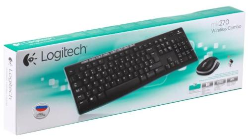 Клавиатура+Мышь Logitech MK 270 Wireless Black RUS [920-004518]