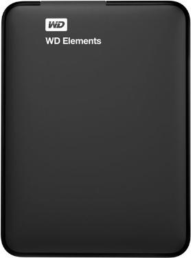 Жесткий диск внешний 2,5' Western Digital 1TB Elements Portable Black [WDBUZG0010BBK-EESN]