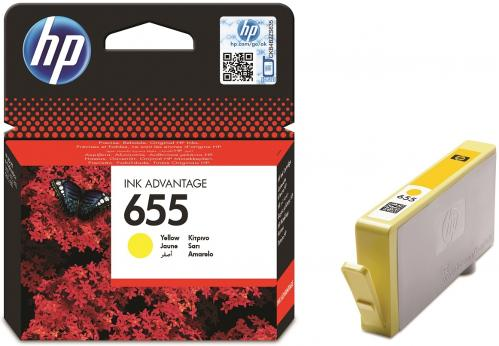 Картридж HP ink №655 Yellow [CZ112AE]