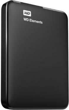 Жесткий диск внешний 2,5' Western Digital 2TB Elements Portable Black [WDBU6Y0020BBK-EESN]