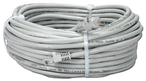 Патч-корд Nets UTP Cat.5e-30м Grey Molded [NETS-PC-UTP-30M]