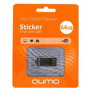Флеш-память USB Qumo 64GB Sticker Black [QM64GUD-STR-Black]