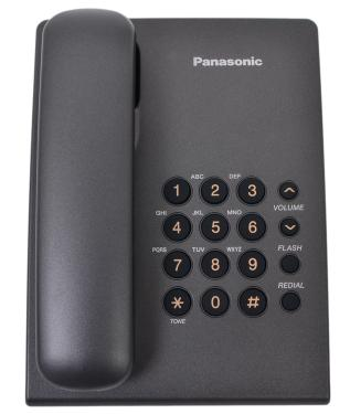 Телефон Panasonic KX-TS2350RUT Dark Grey