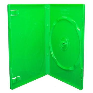 Бокс для к/дисков OEM 1 DVD 14mm Green