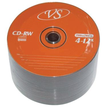 Диск CD-RW VS 700MB 4-12x Bulk/50