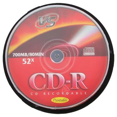 Диск CD-R VS 700Mb 52x Cake 25 pcs Printable