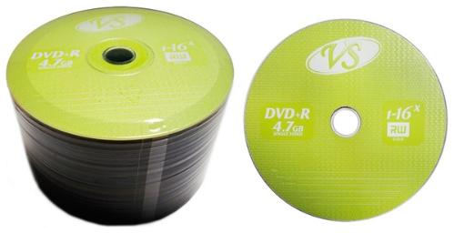 Диск DVD+R VS 4,7 GB 16x Bulk/50