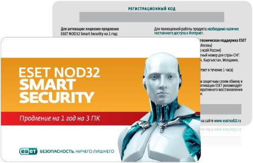 Карточка на продление ПО ESET NOD32 Smart Security 3Dt Renewal [NOD32-ESS-RN(CARD3)-1-1]