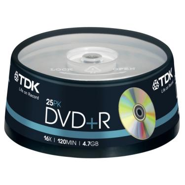 Диск DVD+R TDK 4,7Gb 16x Cake 25 pcs