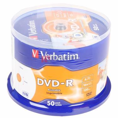 Диск DVD-R Verbatim 4.7Gb 16x Bulk 50pcs Printable [43793]