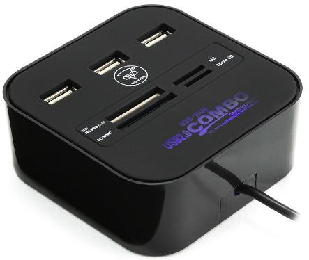 USB - хаб Konoos UK-29 Black