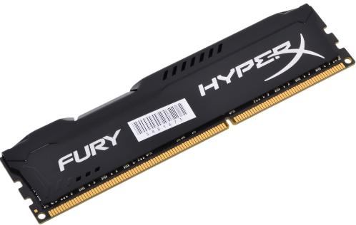 Память для настольного ПК DDR3 KINGSTON 8GB DDR3-1600MHz HyperX Fury Black [HX316C10FB/8]