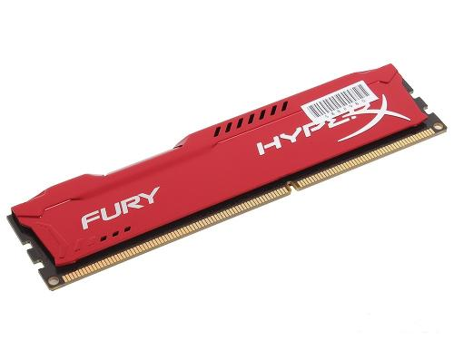 Память для настольного ПК DDR3 KINGSTON 8GB DDR3-1600MHz HyperX Fury Red [HX316C10FR/8]