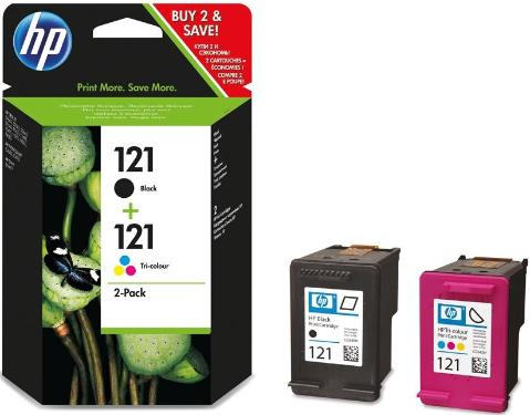 Картридж HP ink №121 black+color  Combo Pack [CN637HE]