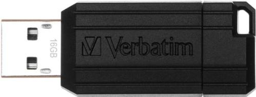 Флеш-память USB Verbatim 16GB Pin Stripe Black [49063]