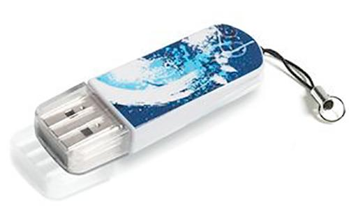 Флеш-память USB Verbatim 8GB Mini Graffiti Edition Blue [98162]
