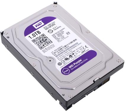 Жесткий диск 3,5' Western Digital 1TB Purple [WD10PURX]