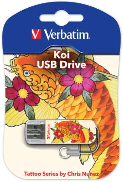 Флеш-память USB Verbatim 16GB Mini Tattoo Edition Koi Fish [49886]
