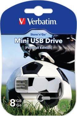 Флеш-память USB Verbatim 8GB Mini Graffiti Edition Football [49880]