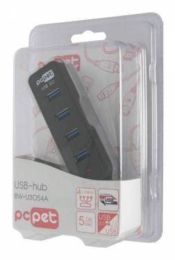 USB - хаб PC Pet BW-U3054A Black