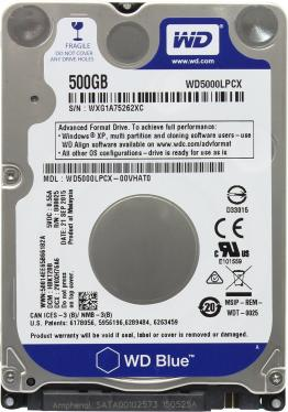 Жесткий диск 2,5' Western Digital 500GB Blue [WD5000LPCX]