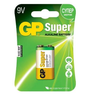 Батарейка 9V GP 6LF22/1BL Super [GP 1604A-CR1]