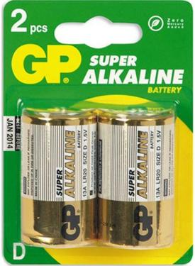 Батарейка D GP LR20/2BL Super [GP 13A-CR2]