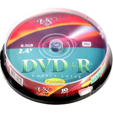 Диск DVD+R VS 8,5 GB 8x Double Layer Cake 10pcs  Printable