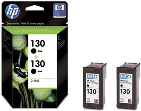 Картридж HP Ink №130 Black  2-pack [C9504HE]
