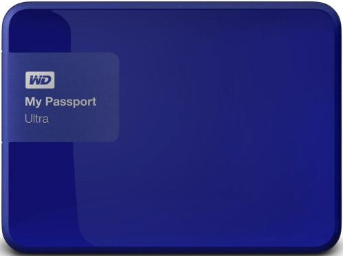 Жесткий диск внешний 2,5' Western Digital 500GB My Passport Ultra Blue [WDBBRL5000ABL-EEUE]