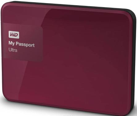 Жесткий диск внешний 2,5' Western Digital 500GB My Passport Ultra Berry [WDBBRL5000ABY-EEUE]