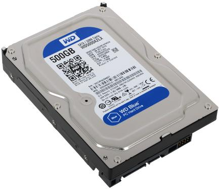 Жесткий диск 3,5' Western Digital 500GB Blue [WD5000AZLX]