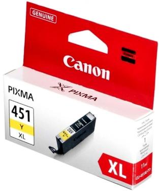 Картридж Canon ink CLI-451XL yellow [6475B001]