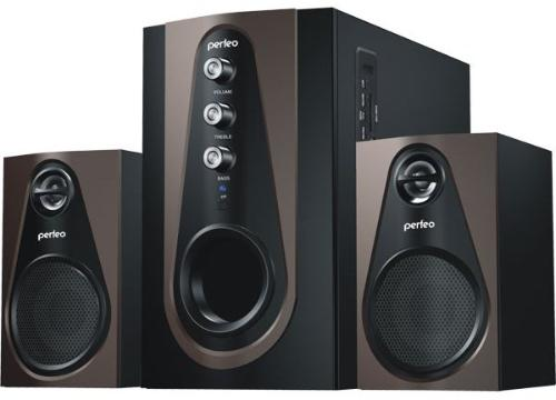 Колонки Perfeo PF-103-BT Scenic Bluetooth Black-Brown