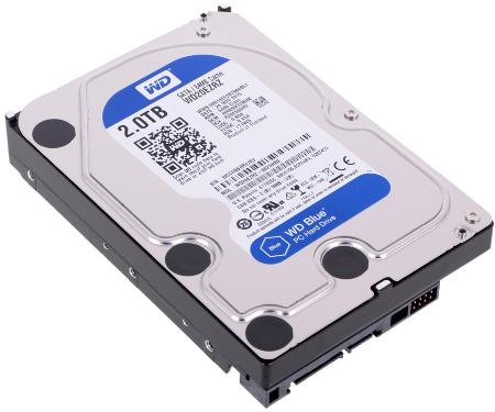 Жесткий диск 3,5' Western Digital 2TB Blue [WD20EZRZ]