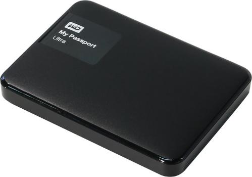 Жесткий диск внешний 2,5' Western Digital 1TB My Passport Ultra Black [WDBDDE0010BBK-EEUE]