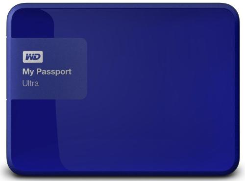 Жесткий диск внешний 2,5' Western Digital 1TB My Passport Ultra Blue [WDBDDE0010BBL-EEUE]