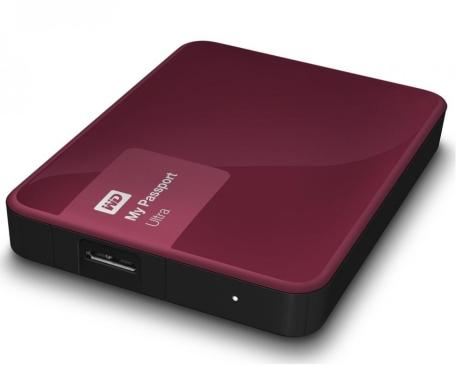 Жесткий диск внешний 2,5' Western Digital 1TB My Passport Ultra Berry [WDBDDE0010BBY-EEUE]
