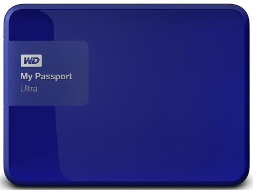 Жесткий диск внешний 2,5' Western Digital 2TB My Passport Ultra Blue [WDBNFV0020BBL-EEUE]